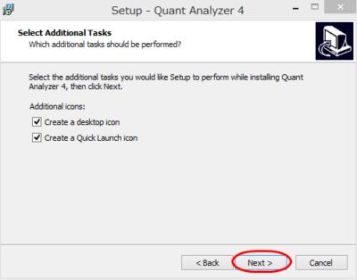 QuantAnalyzer インストール方法⑦